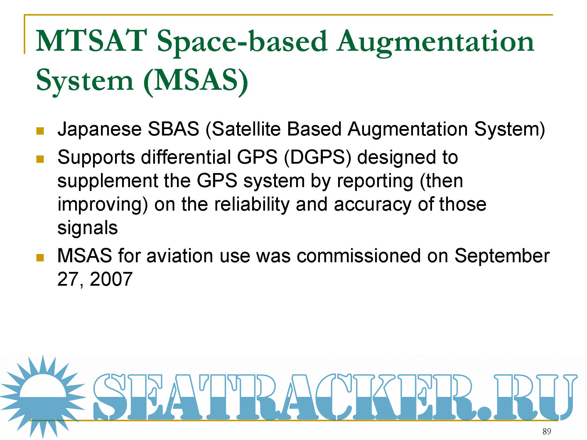 Introduction to GPSand other Global Navigation Satellite