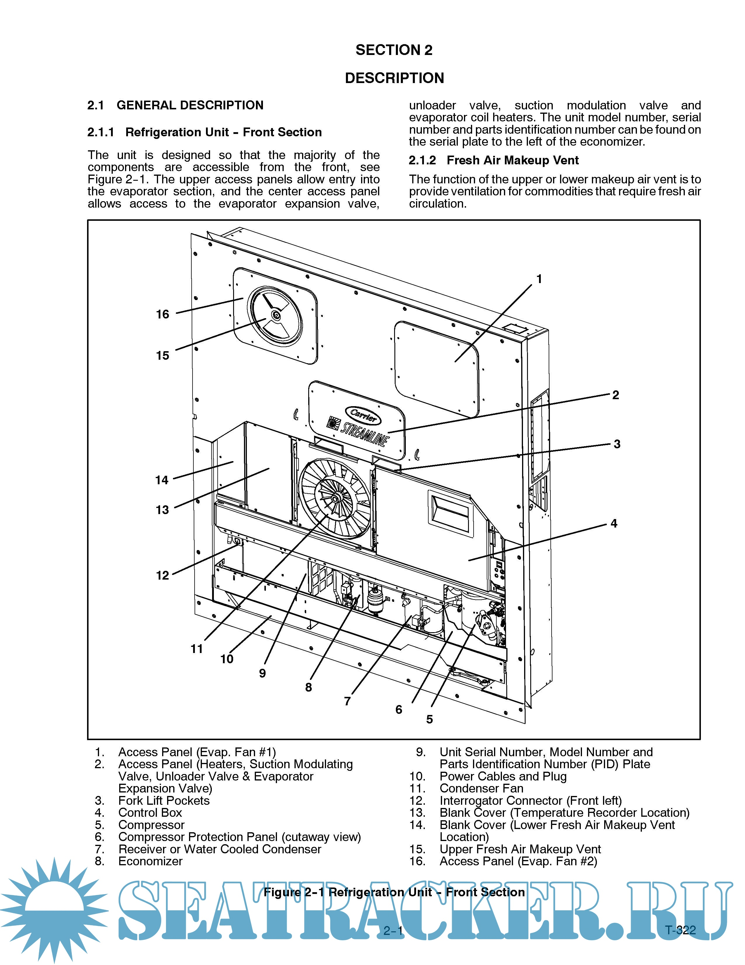 Carrier reefer parts manual